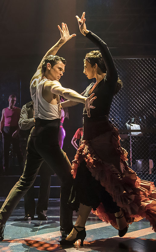 Jonny Labey and Zizi Strallen in Strictly Ballroom - Credit Johan Persson