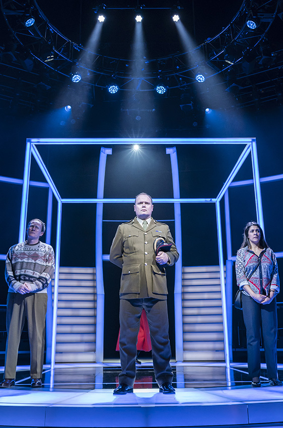 Gavin Spokes, Stephanie Street and Mark Meadows in Quiz - Credit Johan Persson