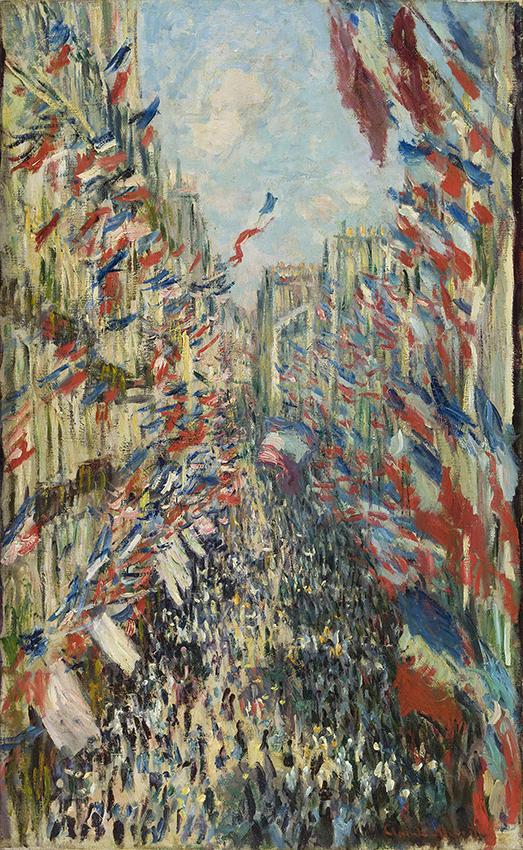 Claude Monet - The rue Montorgueil, Paris. The National Holiday of 30 June, 1878 (La Rue Montorgueil, Paris. Fête du 30 juin, 1878) - Copyright Musée d'Orsay, Dist. RMN-Grand Palais / Patrice Schmidt