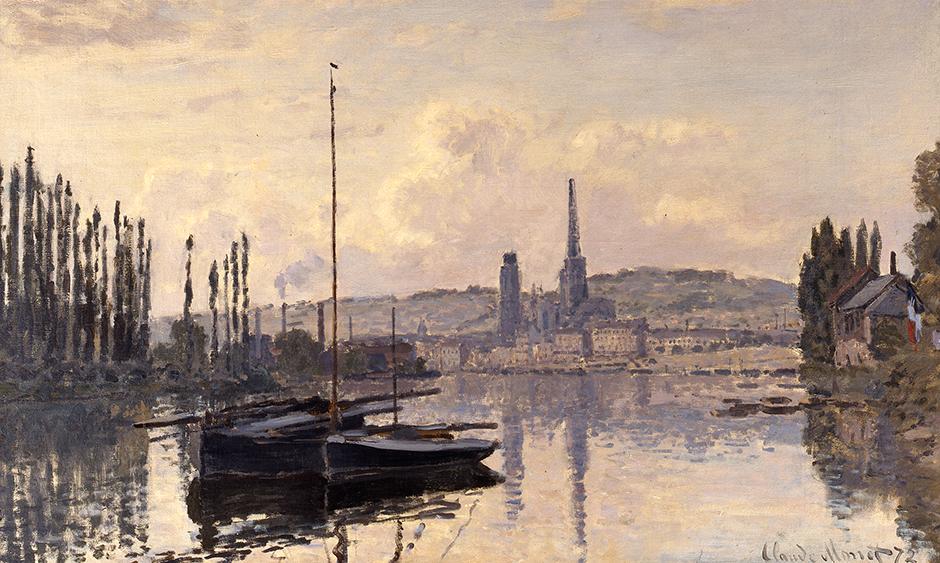 Claude Monet - View of Rouen (Vue de Rouen), 1872 - Copyright Private collection UK. Photo courtesy of the owner