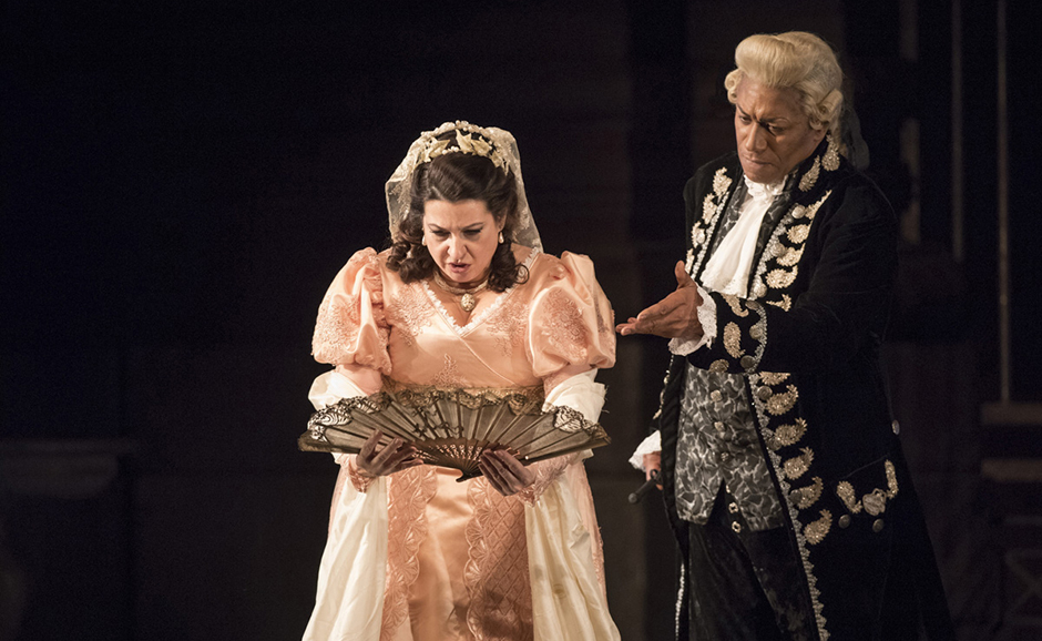 Mark S. Doss and Claire Rutter in Welsh National Opera's Tosca - Credit Richard Hubert Smith
