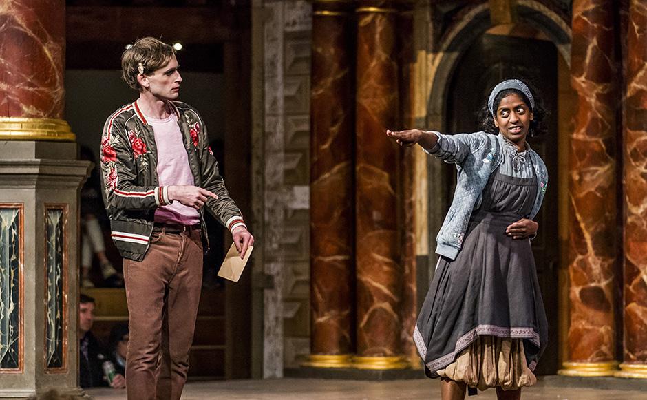 Jack Laskey and Nadia Nadarajah in As You Like It - Credit Tristram Kenton