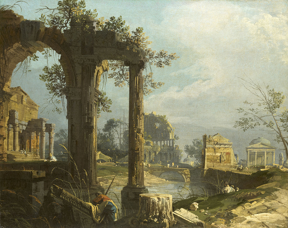 Canaletto, A Capriccio View with Ruins, c.1735-40