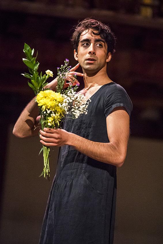 Shubham Saraf in Hamlet - Credit Tristram Kenton