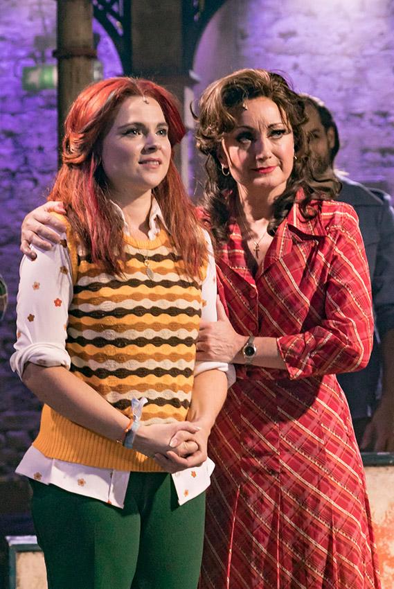 Gemma Sutton and Caroline O'Connor in The Rink - Credit Darren Bell