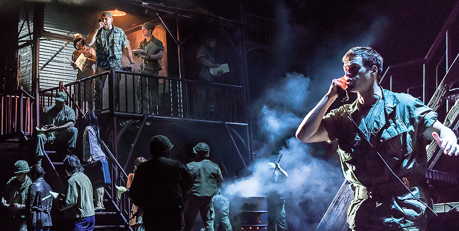 Ashley Gilmour in Miss Saigon - Credit Johan Persson
