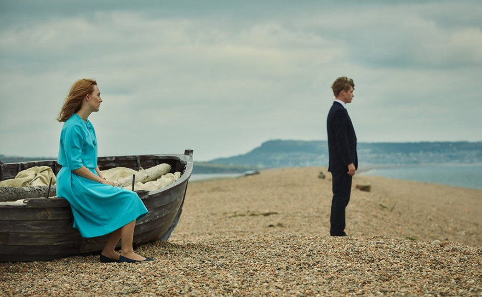 Saoirse Ronan and Billy Howle in On Chesil Beach - Credit IMDB
