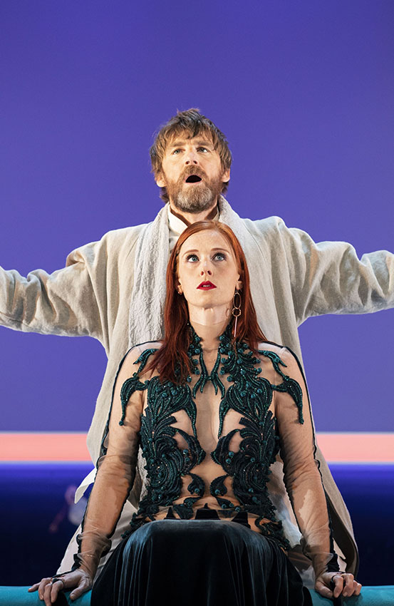 Paul Anderson and Audrey Fleurot in Tartuffe - Credit Helen Maybanks
