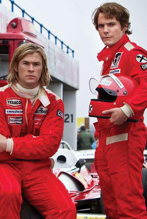 Daniel Brühl and Chris Hemsworth in Rush - Credit IMDB