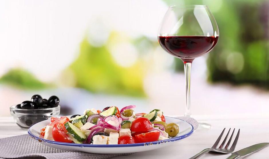Plate of Greek food - Credit Silver Travel Adviser