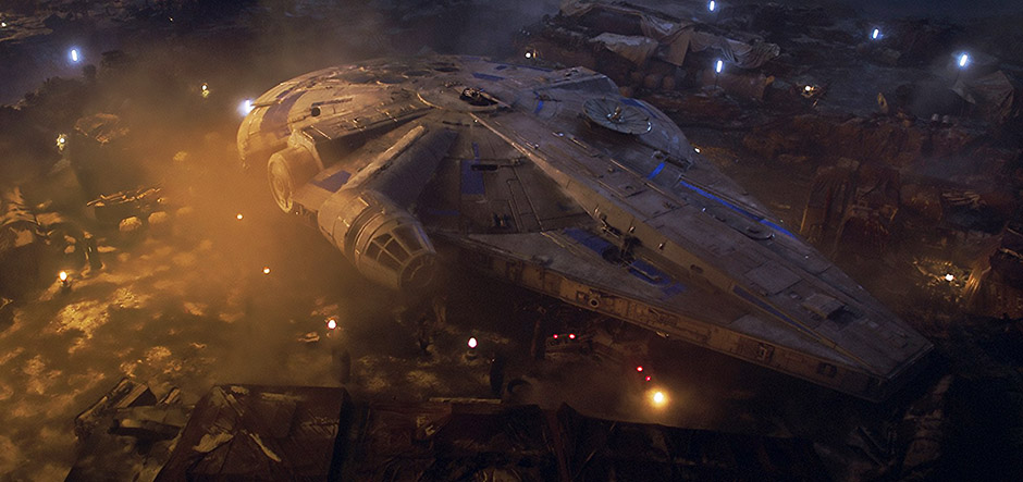 Millennium Falcon from Solo: A Star Wars Story - Copyright null - Credit IMDB