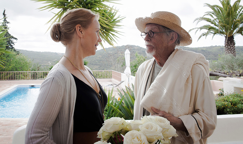 John Hurt and Sofia Helin in That Good Night - Credit Trafalgar Releasing