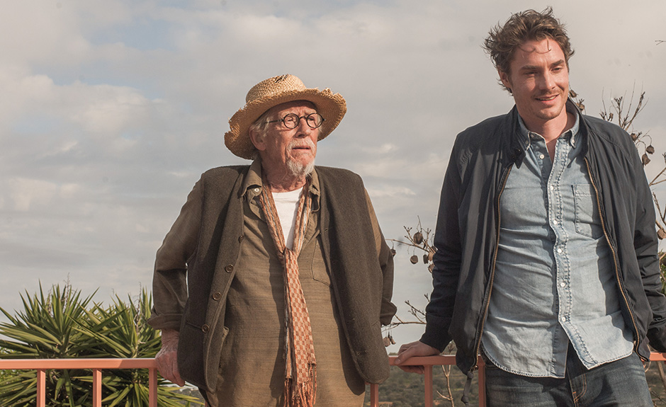 John Hurt and Max Brown in That Good Night - Credit Trafalgar Releasing