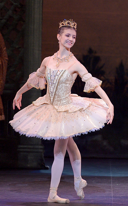Alina Cojocaru in English National Ballet's The Sleeping Beauty - Credit Laurent Liotardo