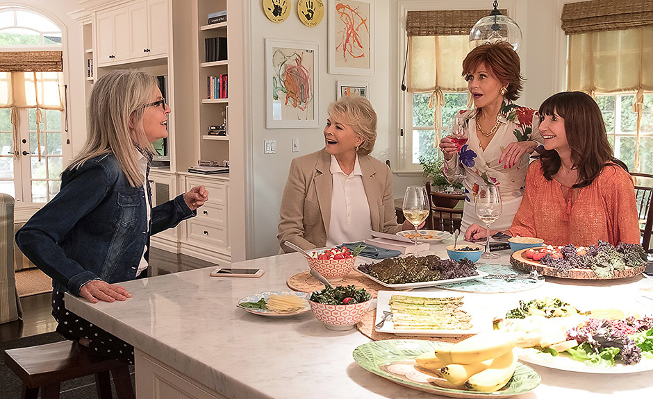 Candice Bergen, Jane Fonda, Diane Keaton and Mary Steenburgen in Book Club - Photo Credit Melinda Sue Gordon - © 2018 - Paramount Pictures - Credit IMDB