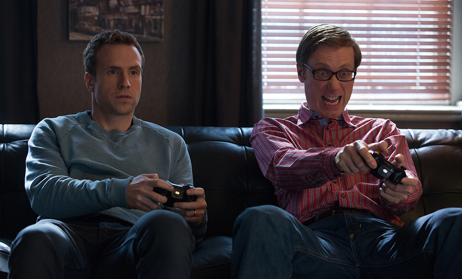 Stephen Merchant and Rafe Spall in I Give It a Year - Photo by Giles Keyte - Copyright 2012 - StudioCanal - Credit IMDB