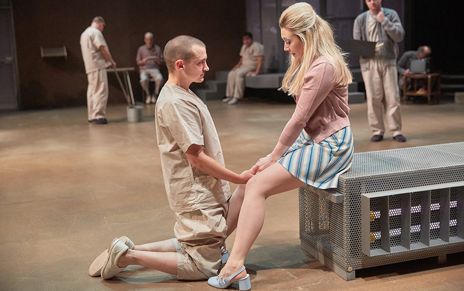 Joel Gillman and Melissa Johns in One Flew Over The Cuckoo's Nest - Credit Sam Taylor