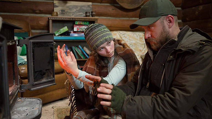 Ben Foster and Thomasin McKenzie in Leave No Trace - Copyright MAB Productions - Credit IMDB
