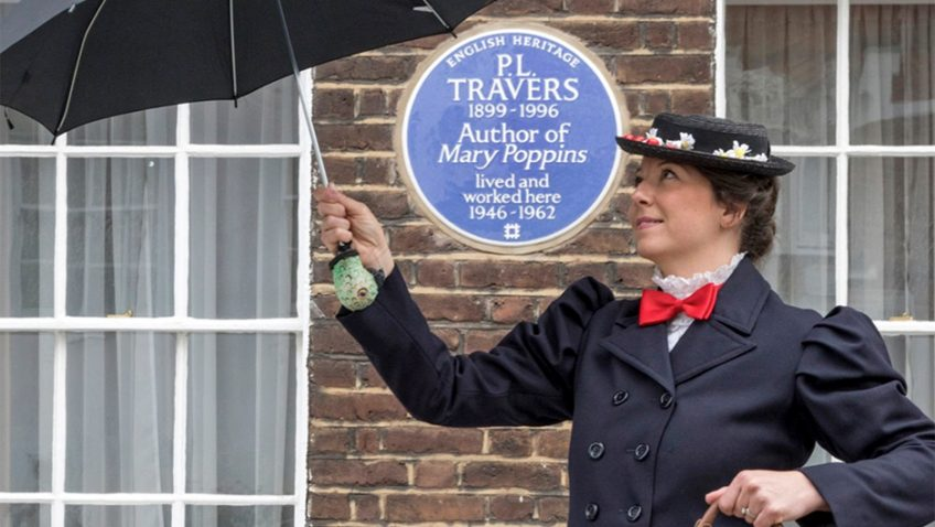 Mary Poppins author celebrated with a blue plaque