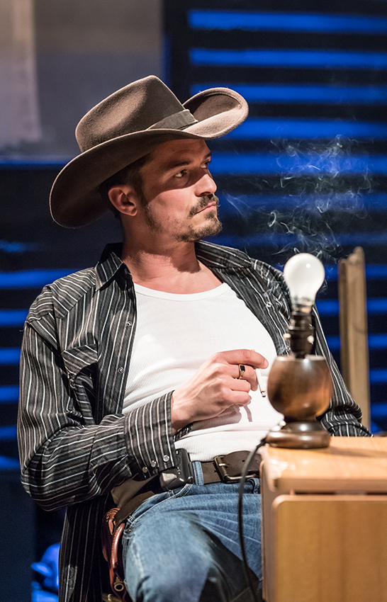 Orlando Bloom in Killer Joe - Credit Marc Brenner