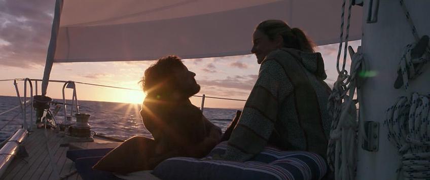 Shailene Woodley and Sam Claflin in Adrift - Credit IMDB