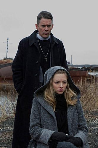 Ethan Hawke and Amanda Seyfried in First Reformed - Credit IMDB
