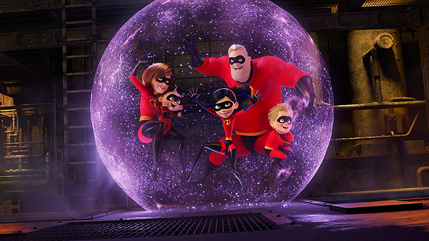 Holly Hunter, Craig T. Nelson, Sarah Vowell, Eli Fucile and Huck Milner in Incredibles 2 - Credit IMDB