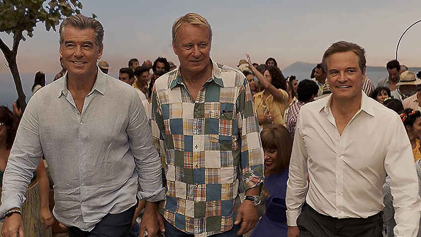 Pierce Brosnan, Colin Firth and Stellan Skarsgård in Mamma Mia! Here We Go Again - Credit IMDB