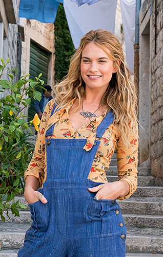Lily James in Mamma Mia! Here We Go Again - Credit IMDB