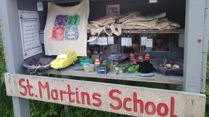 St. Martins school stall
