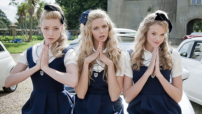 Tamsin Egerton, Gabriella Wilde and Clara Paget in St Trinians 2: The Legend of Frittons Gold