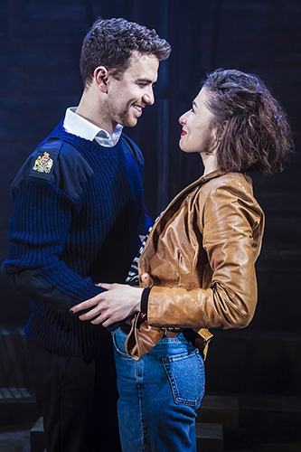 Richard Fleeshman and Frances McNamee in The Last Ship - Credit Pamela Raith
