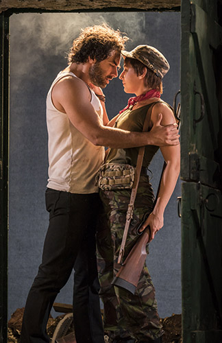 Aidan Turner and Charlie Murphy in The Lieutenant of Inishmore - Credit Johan Persson