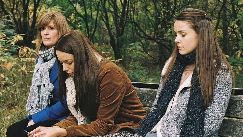 Siobhan Finneran, Sacha Parkinson and Molly Wright in Apostasy - Credit Curzon Artificial Eye