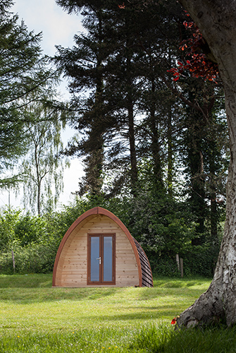 Camping in the Forest Camping pod at Bracelands campsite in the Forest of Dean