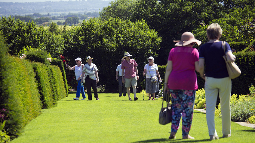 Elderly visitors at RHS Garden Hyde Hall - Free for commercial use - No attribution required - Credit Pixabay
