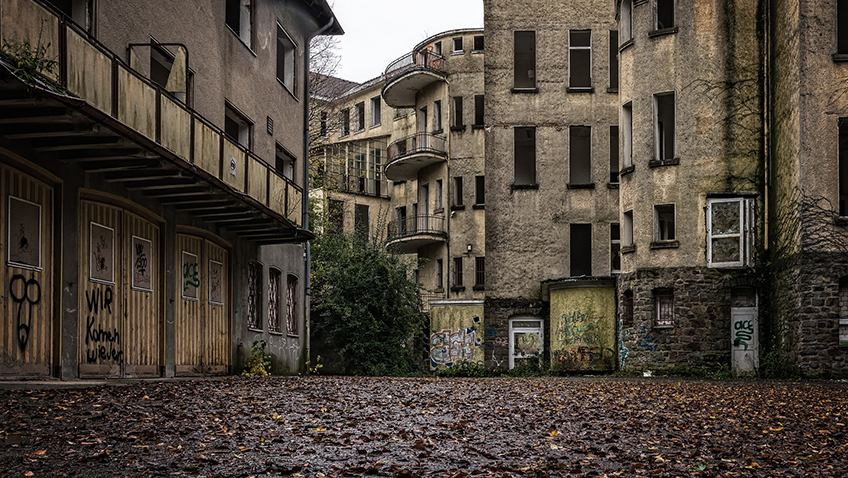 Abandoned town centre - Free for commercial use - No attribution required - Credit Pixabay