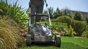 This Gtech cordless lawnmower really cuts the mustard!