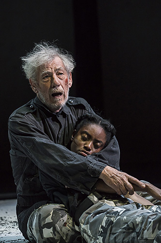Ian McKellen and Anita-Joy Uwajeh in King Lear - Credit Johan Persson