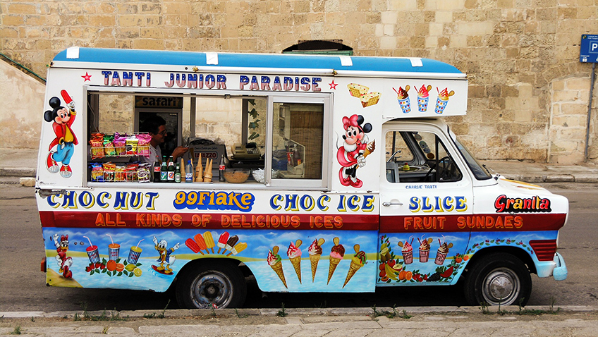 Ice cream van - Free for commercial use - No attribution required - Credit Pixabay