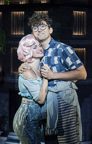 Jemima Rooper and Marc Antolin in Little Shop of Horrors - Credit Johan Persson