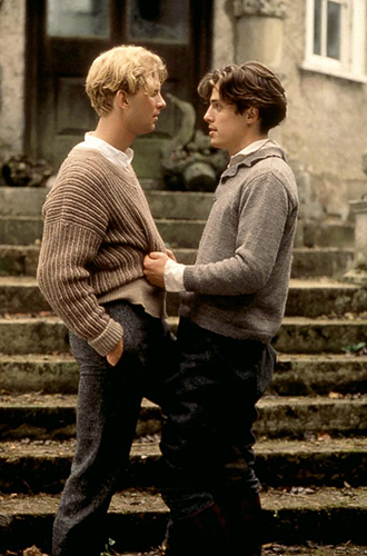 Hugh Grant and James Wilby in Maurice - Credit IMDB