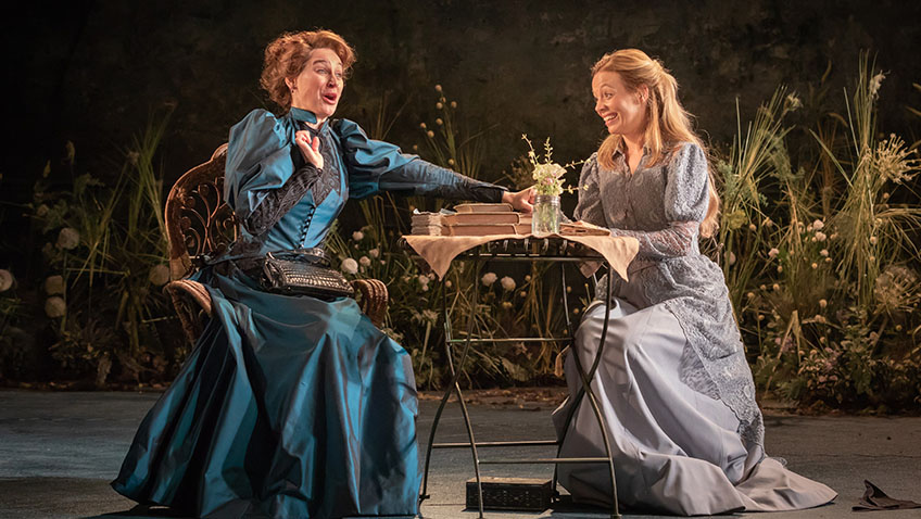 Pippa Nixon and Fiona Button in The Importance of Being Earnest - Credit Marc Brenner