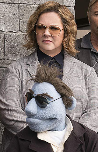 Bill Barretta and Melissa McCarthy in The Happytime Murders - Photo by Hopper Stone - © Motion Picture Artwork Â2017 STX Financing, LLC. All Rights Reserved - Credit IMDB