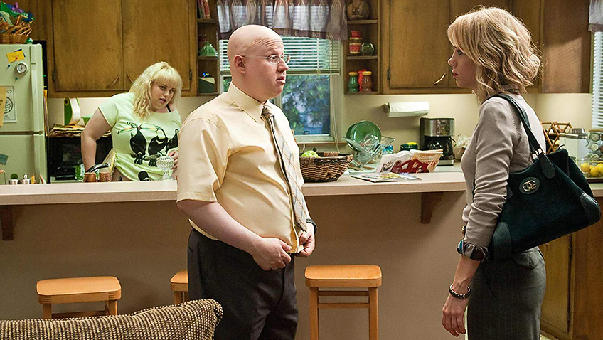 Matt Lucas, Kristen Wiig and Rebel Wilson in Bridesmaids - Photo by Suzy Hanover - © 2011 Universal Studios - Credit IMDB
