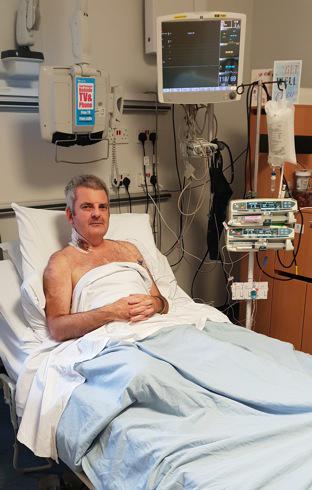 Gareth Evans in Wythenshaw Hospital 2018