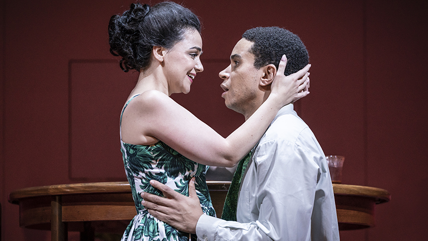 Hayley Squires and John Macmillan in Pinter Two - Credit Marc Brenner