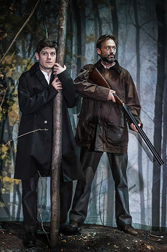 Iwan Rheon and Paul Nicholls in Foxfinder - Credit Pamela Raith
