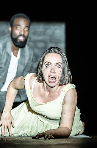 Paapa Essiedu and Kate O'Flynn in Pinter One