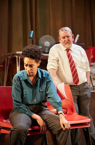 Nigel Betts and Rebecca Scroggs in Steel - Credit Mark Douet